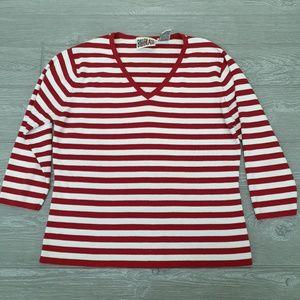 Vintage Bill Blass striped blouse
